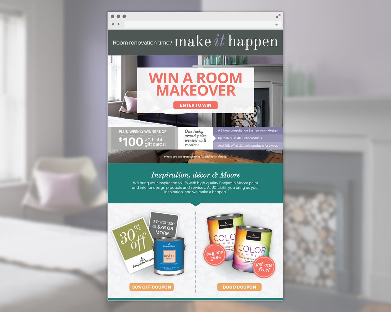 Win a room renovation on us
